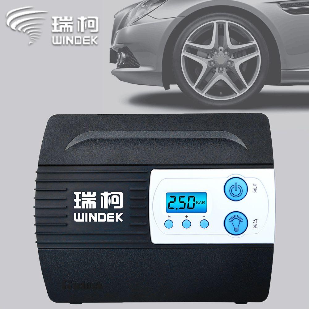 WINDEK compresseur de voiture pneu pompe gonflable Auto numérique gonfleur de pneus électrique 12 V compresseurs d'air pour voitures pneus