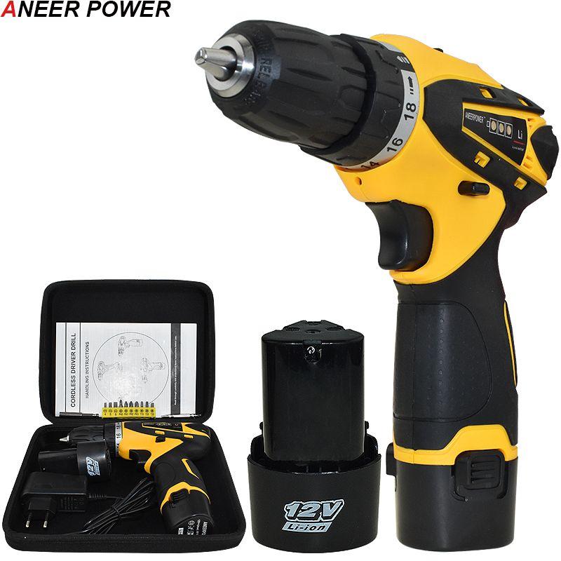 1.5Ah batterie capacité perceuse 12 v Mini perceuse sans fil outils électriques tournevis électrique perceuse électrique Batteries tournevis