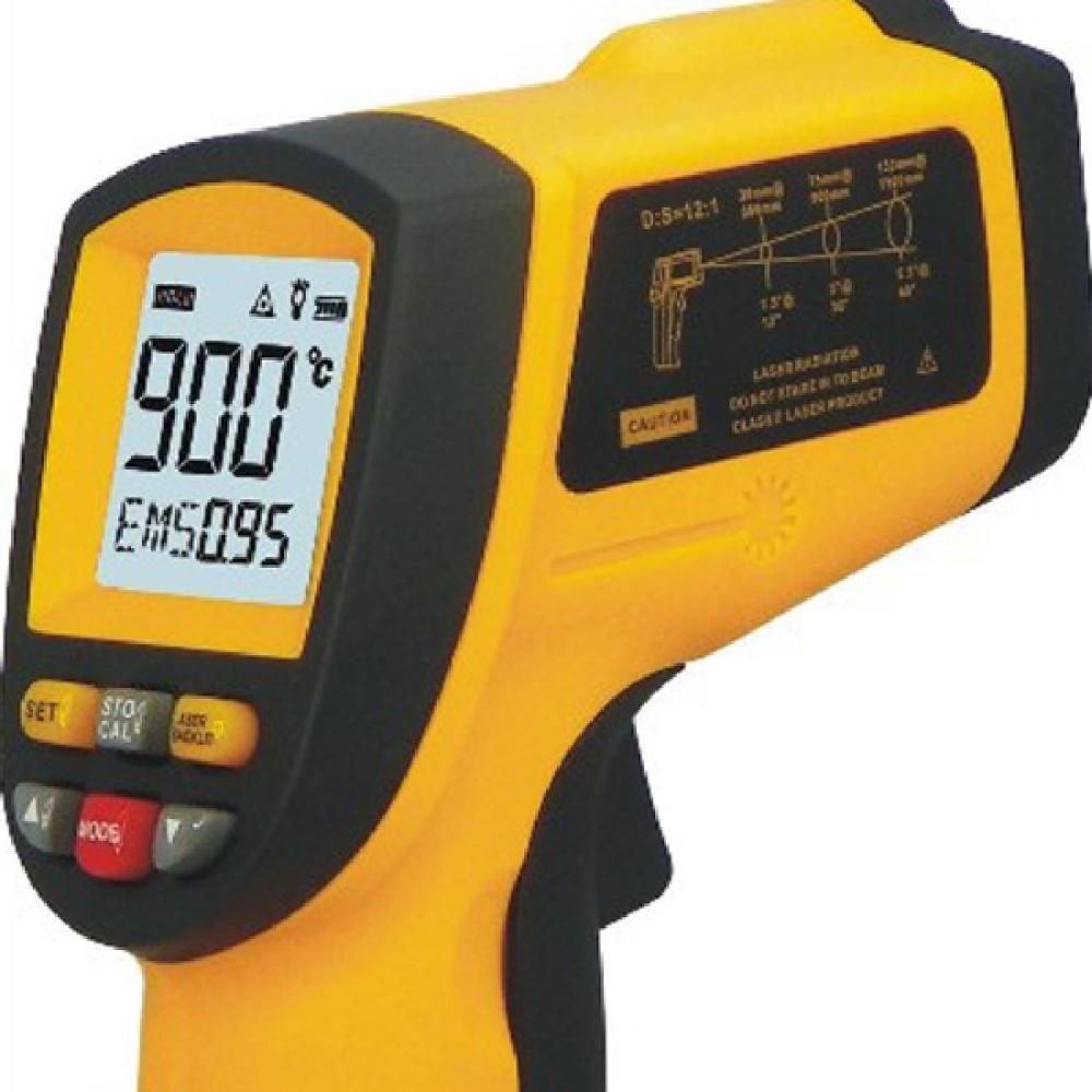 GM900 sans Contact 12:1 LCD affichage IR infrarouge numérique température pistolet thermomètre-50 ~ 900C (-58 ~ 1652F) 0.1 ~ 1.00 réglable