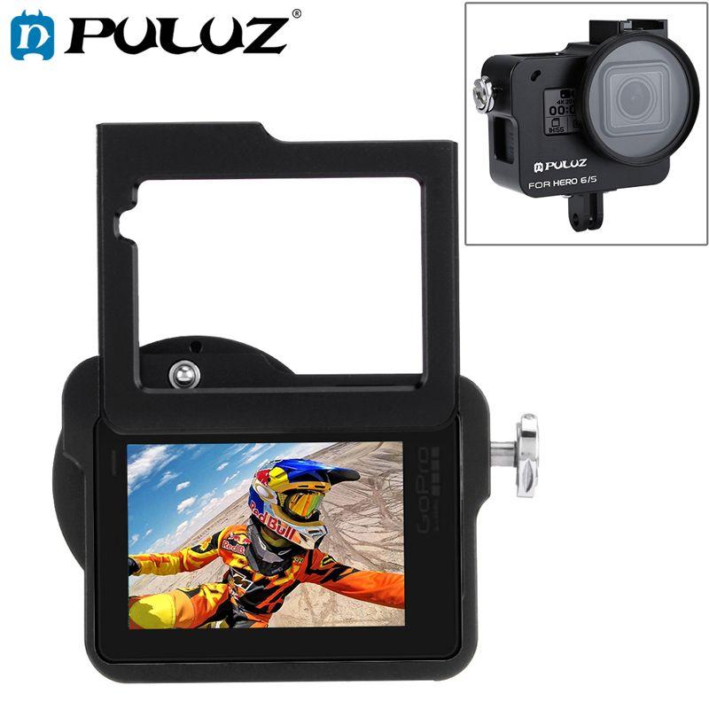 PULUZ Case Housing Shell For GoPro Hero 7 black CNC Protective Cage+Insurance Frame&52mm UV Lens For GoPro Hero 2018