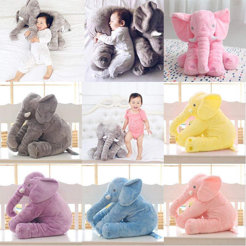 1 pc 40/60 cm Mode Bébé Éléphant Animal Style Poupée En Peluche Éléphant En Peluche Oreiller Enfants Jouet Enfants Chambre lit de Couchage Oreiller