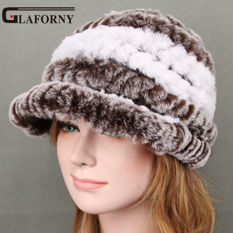 2017 sombrero de invierno para las mujeres Rex conejo Pieles de animales sombrero con Fox Pieles de animales flor hembra Pieles de animales Cap buena calidad Pieles de animales casquette 11 colores