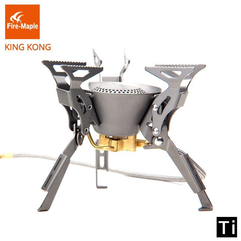 Fire Maple KING KONG Titanium Outdoor Camping Hiking Folding Burners Split Gas Stove Equipment 199g 2450W FMS-100T