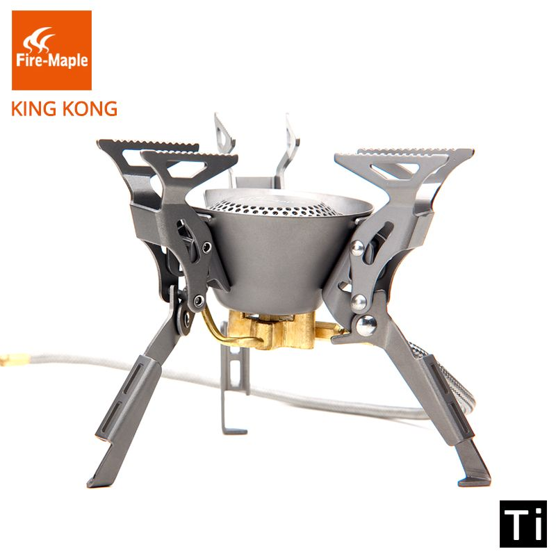 Fire Maple Titanium Gas Burner Camping Equipment Ultralight Foldable Burners FMS-100T Split Gas Stove Outdoor Camping Stoves