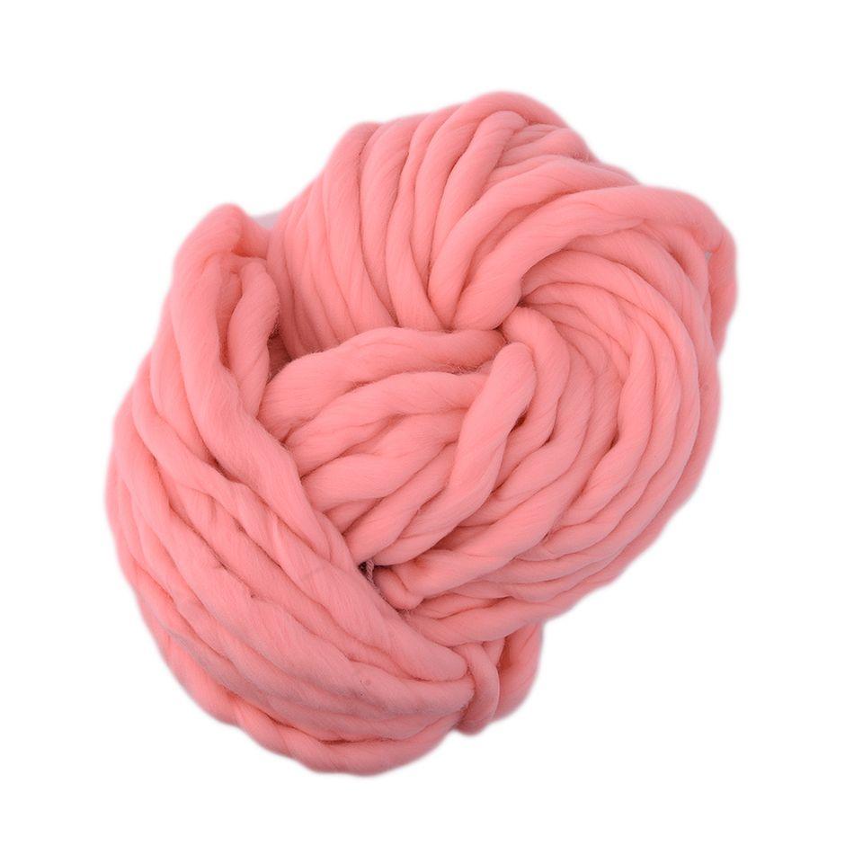 Hot 20 Colors Soft Wool Roving Bulky Thick Big Yarn Spinning Hand Knitting Thread Crochet Yarn for Hat Scarf Knitting Drop ship