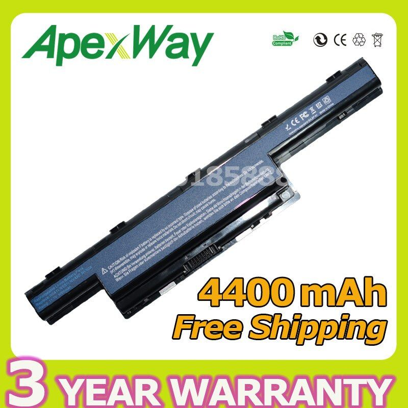 Apexway <font><b>4400mAh</b></font> Battery For Acer Aspire AS10D31 AS10D51 AS10D81 AS10D61 AS10D41 AS10D71 4741 5742G V3 E1 5750G 5741G as10g3e