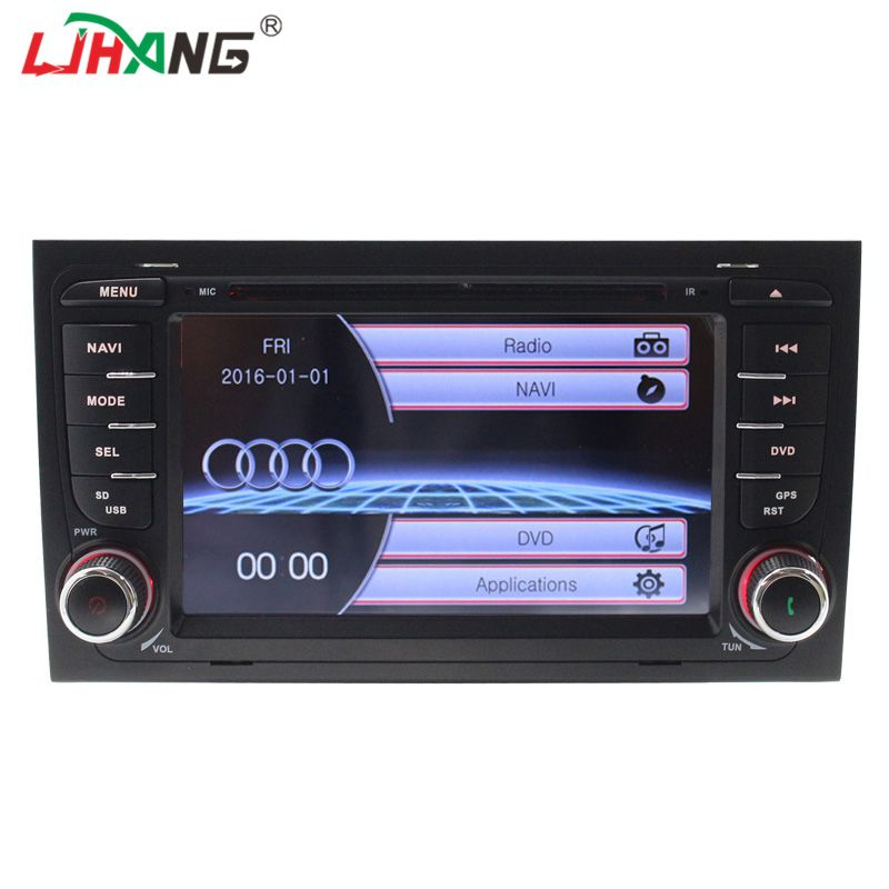 LJHANG 2 din Car DVD Player for Audi A4 2003-2010 RDS Radio FM Bluetooth can bus SWC WIFI BT Mirror Link Multimedia GPS AUX