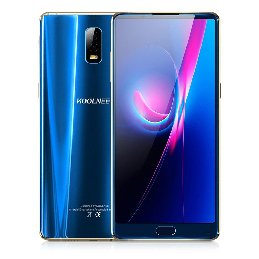 KOOLNEE K1 Trio Face ID 6GB+128GB 6.01'' Android 7.1 MTK6763 Octa Core 2.0GHz 16MP Dual Rear Cams Fingerprint 4G Mobile Phone