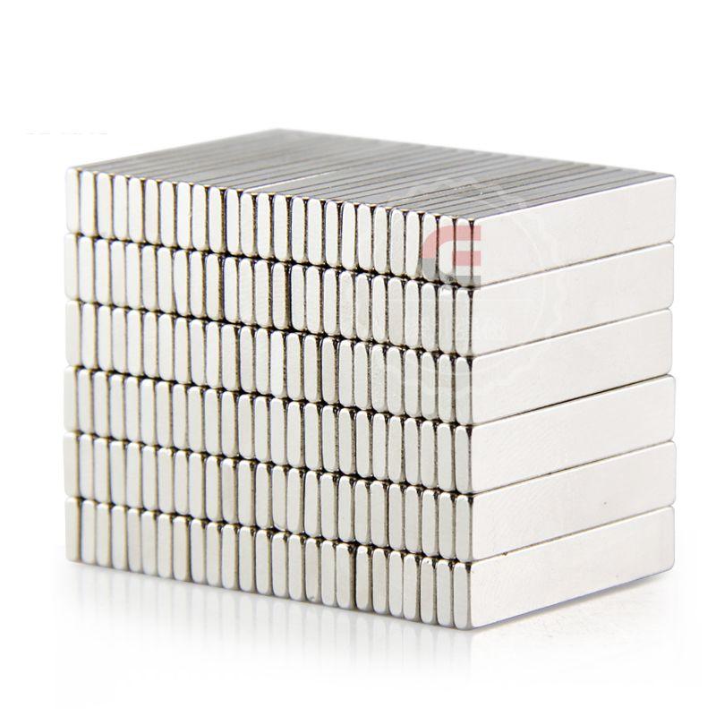 50pcs Strong Rare Earth Bar Neodymium Magnets N50 25x5x1.5mm Permanet Customizable magnet