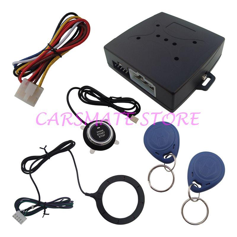 Smart RFID Car Alarm System Push Engine Start Stop Button Transponder Immobilizer Keyless Go Fits for DC 12V Cars Carsmate