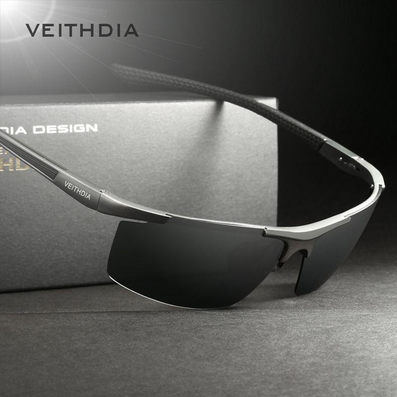 VEITHDIA Aluminum Magnesium Men's Sunglasses Polarized Coating Mirror Sun <font><b>Glasses</b></font> oculos Male Eyewear Accessories For Men 6588