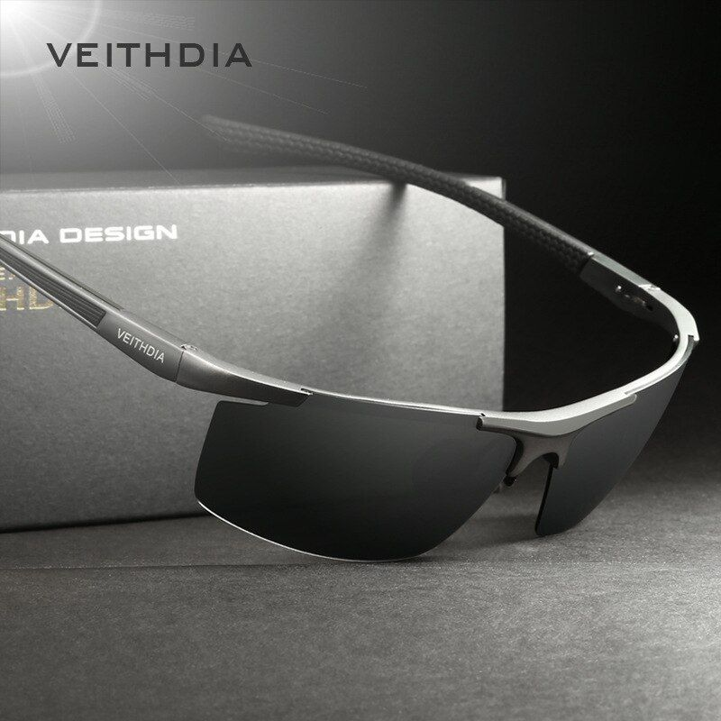 VEITHDIA Aluminum Magnesium Men's Sunglasses Polarized Coating <font><b>Mirror</b></font> Sun Glasses oculos Male Eyewear Accessories For Men 6588