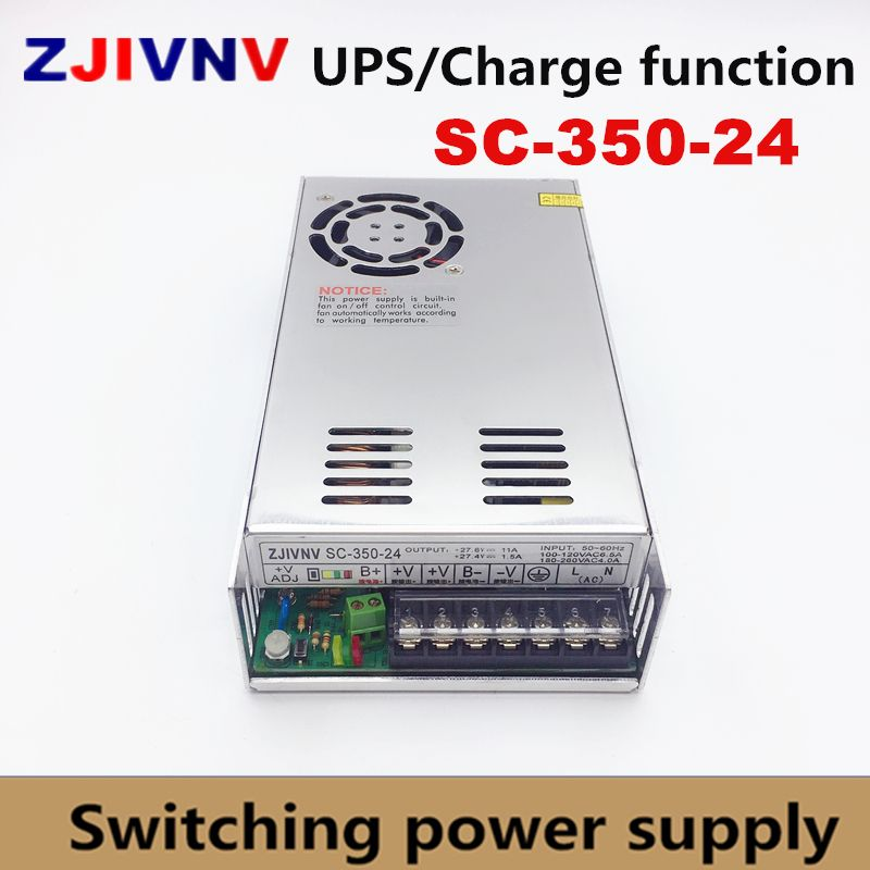 350W UPS charge function switching power supply 24v 11A 350W battery charger 27.4A SC-350-24