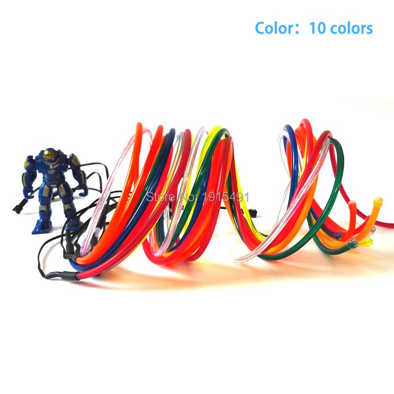 High quality Fashion 15Meter 5.0mm 10 Colors available,Trendy EL wire Holiday lighting+AC-220V Drives For Christmas Decoration