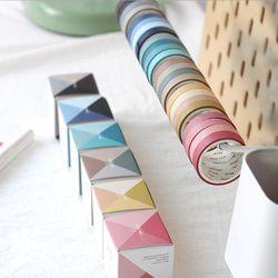4 Pcs/Kotak Cinta Seri 9 Mm X 3 M Washi Tape DIY Dekorasi Scrapbooking Perencana Masking Tape Pita Perekat Label stiker Station