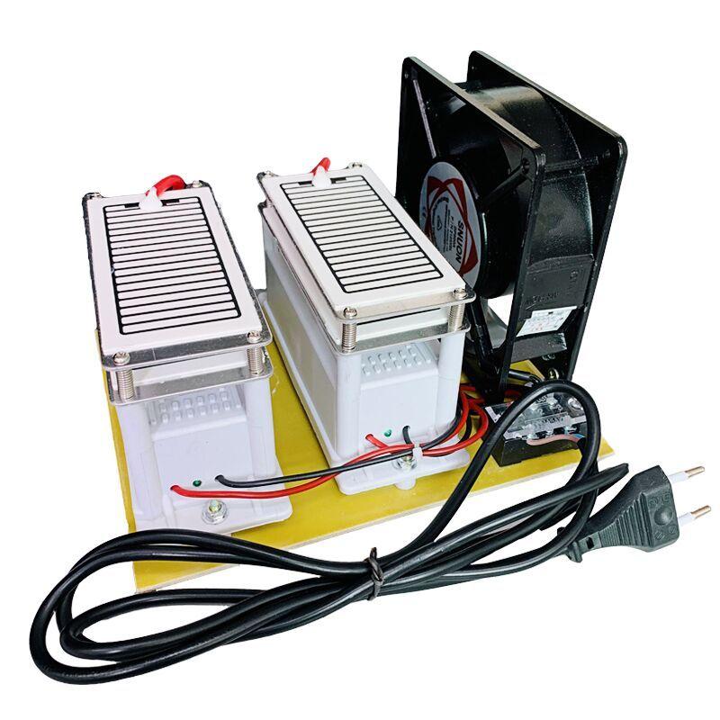 Luft Ozon Generator 220 V 20g Metall Kunststoff Ozon Desinfektion Maschine Auto Air Filter Purifier Fan Für Home Auto sterilisieren