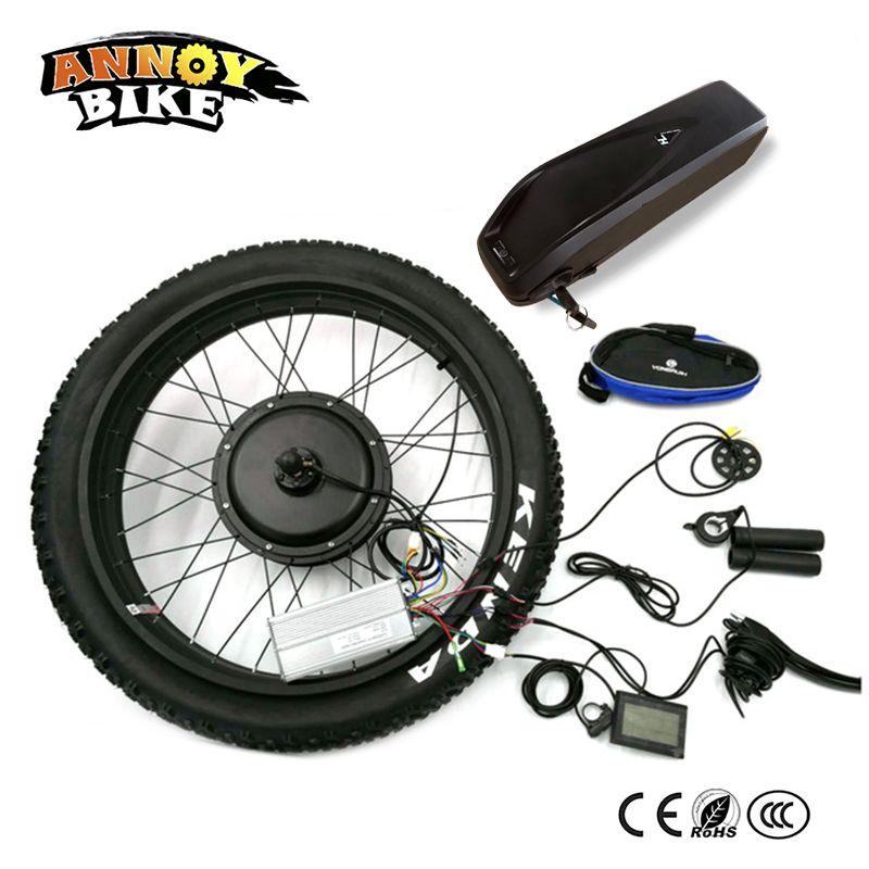 Schnee Bike Hinten Stick 24 26 4,0 Fett 48 v 1500 w Bicicleta Electrica Motor Elektrische Fett Mit batterie Bike Conversion Kit 4,0 Reifen