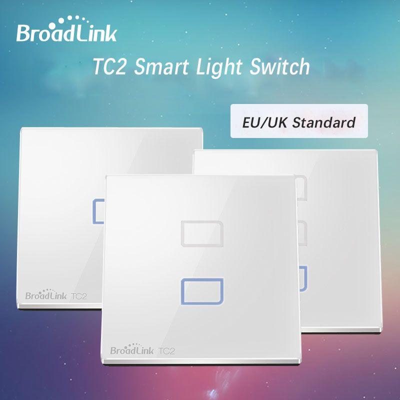 D'origine Broadlink TC2 Smart Switch Lumière Télécommande RF/Wifi/tactile Sans Fil Interrupteur à Clé Mur travail avec Broadlink Rm Pro