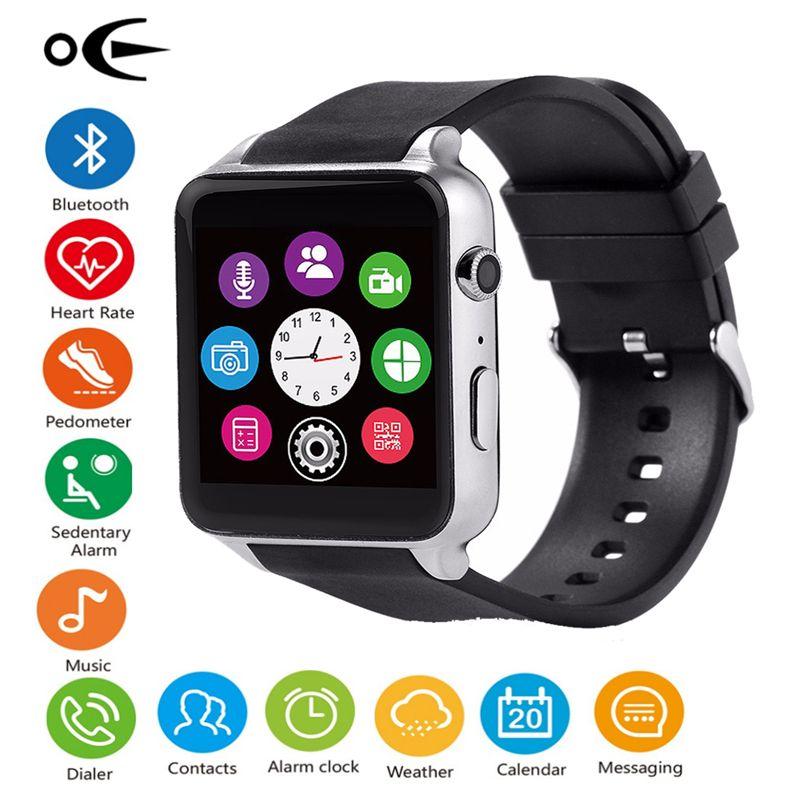 Sportuhr Männer Wasserdichte Intelligente Armband Pulsmesser Smartwatch für IOS Android System Armband Unterstützung TF/Simkarte GT88