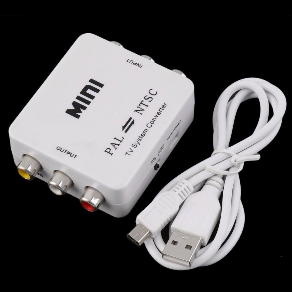 PAL NTSC SECAM PAL A NTSC Sistema de TV Video Converter Switcher Adaptador Macho-Hembra Sin Blindaje Aplicación EN Multimedia