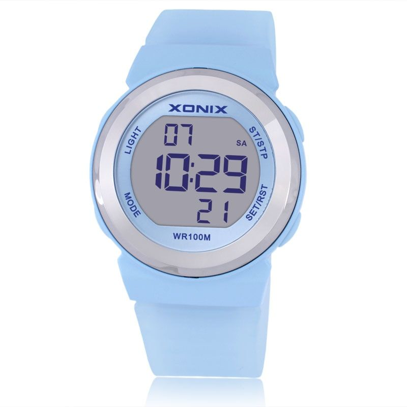 Hot!!! Fashion Women Sports Watches Waterproof 100m Ladies Jelly LED Digital Watch Swimming Diving Hand Clock Montre Femme