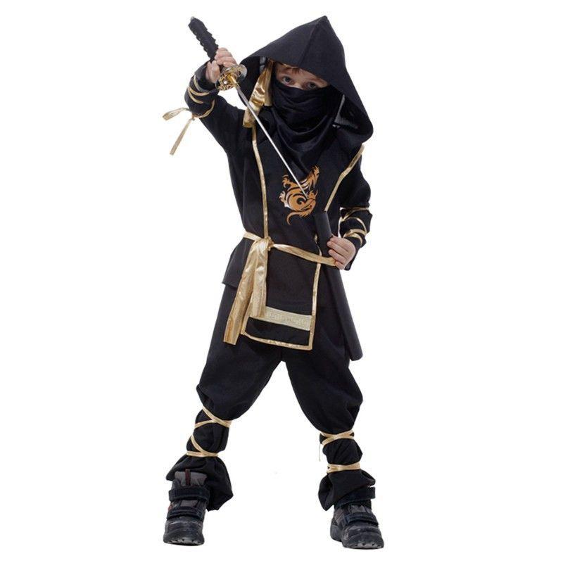 Ninja Costume Grim Reaper Halloween Children's Day Cosplay Clothing Children Warrior Costumes Stage Suit Kids Swordsma