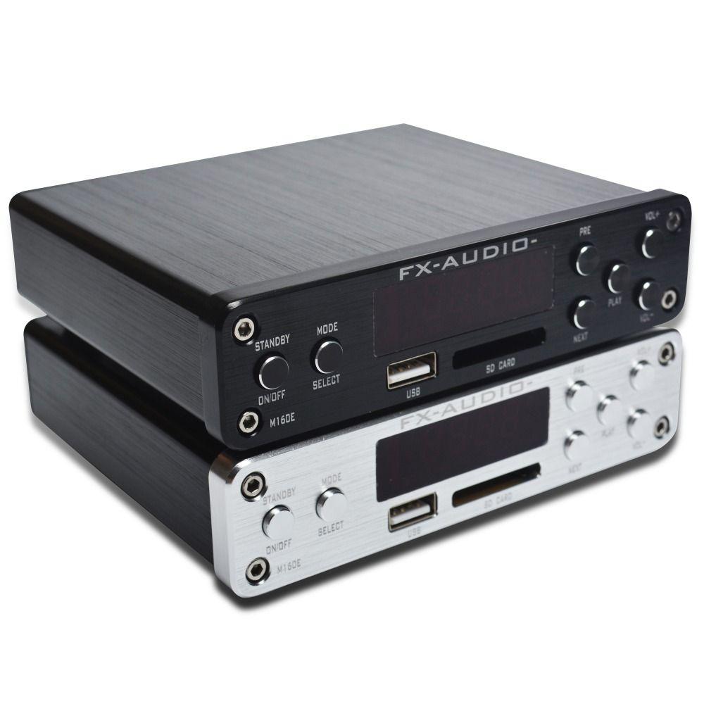 FX-Audio M-160E Bluetooth 4.0 amplificateur home cinéma numérique entrée Audio USB/SD/AUX/PC-USB lecteur sans perte 2*160 W