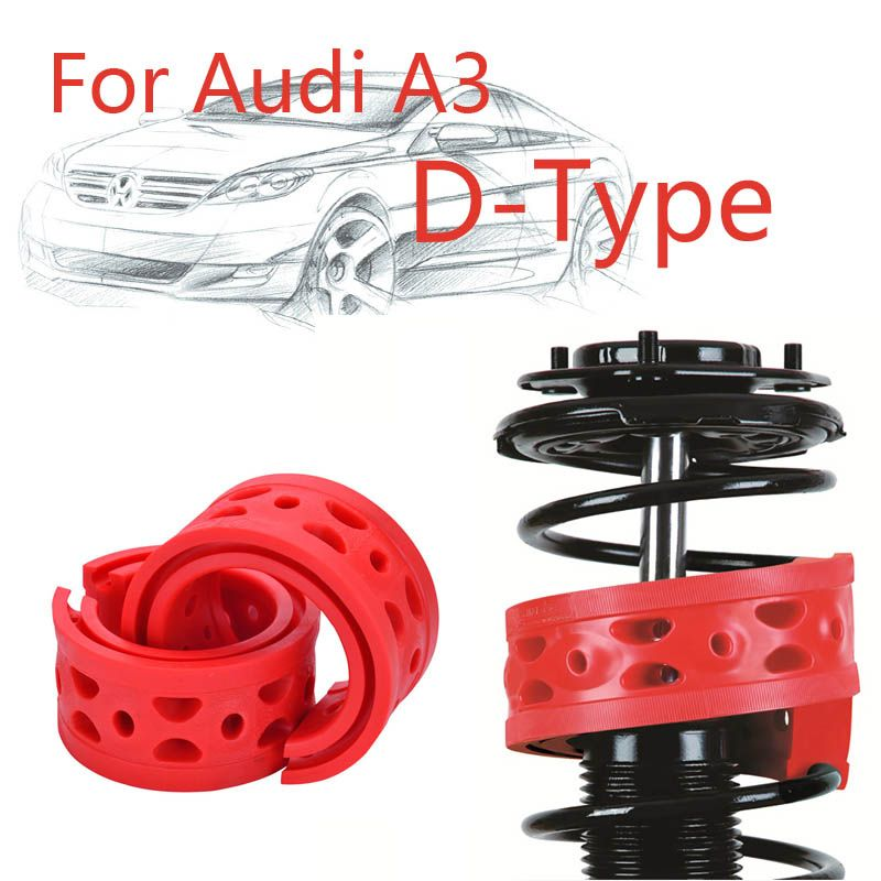 Jinke 1pair Size-D Rear Shock SEBS Bumper Power Cushion Absorber Spring Buffer For Audi A3