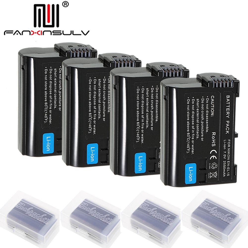 4 x EN-EL15 en el15 digital batterie für Nikon D7000 SLR kamera batterie D7200 D7100 D7500 D610 D750 D810 D850 z7 Z6 D500 Tracking
