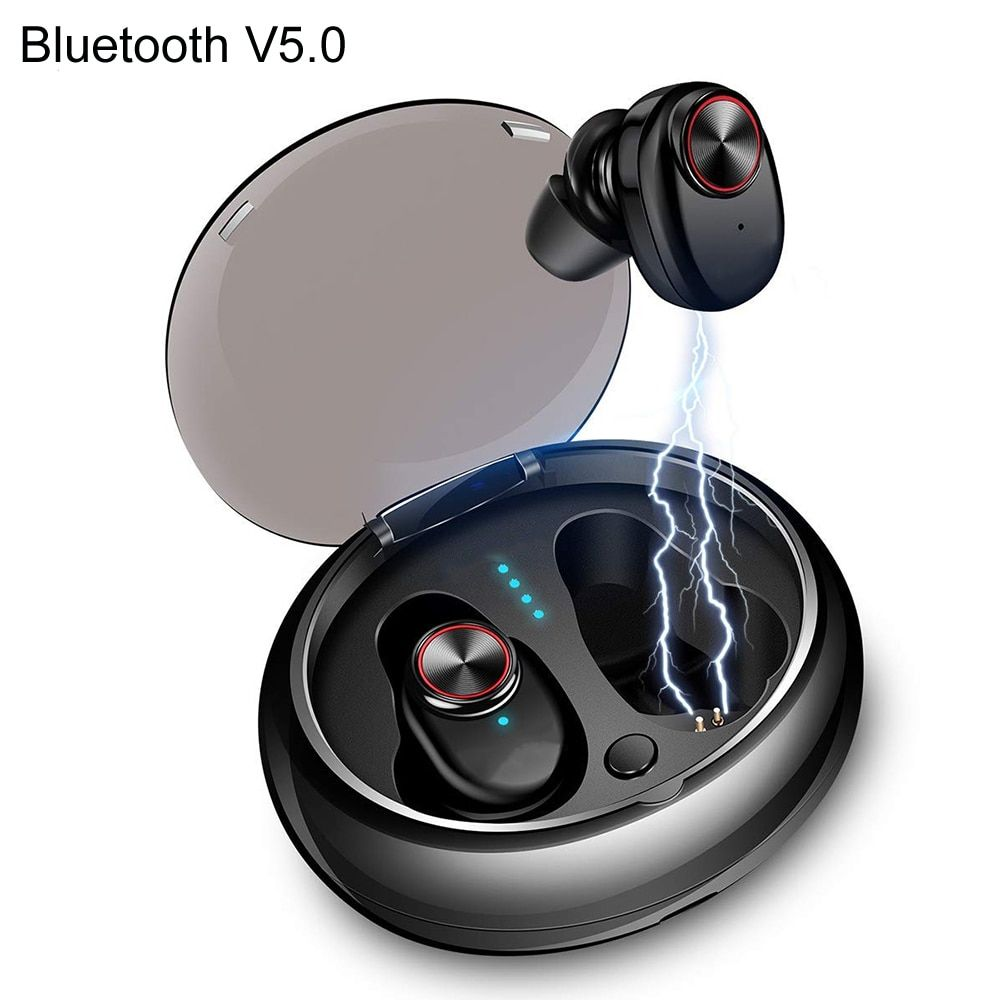 NVAHVA Mini TWS Bluetooth V5.0 Earbuds Dual Wireless Earphones Bluetooth Headsets Hands-free For Phone PC TV Pad Car Sports Game