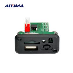 Aiyima Mini 12V MP3 Audio Decoder Board Lossless WAV MP3 Decoders Stereo Two-channel Audio Output Support TF Card U Disk