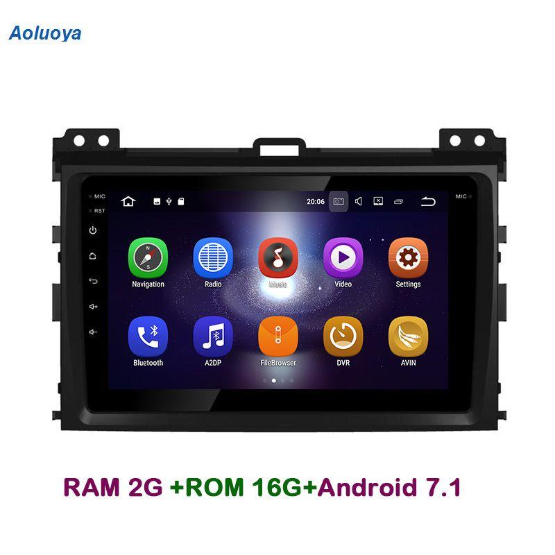 Aoluoya RAM2G Android 7.1 CAR DVD Player Radio GPS Navigation For Toyota Prado 120 Land Cruiser 120 2002-2010 Audio head unit 3G