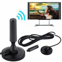 Nouveau Intérieur Gain 30dBi Numérique DVB-T/FM Tnt Aérienne Antenne PC pour TV HDTV Numérique Sans Fil Antennes de Télévision Noir