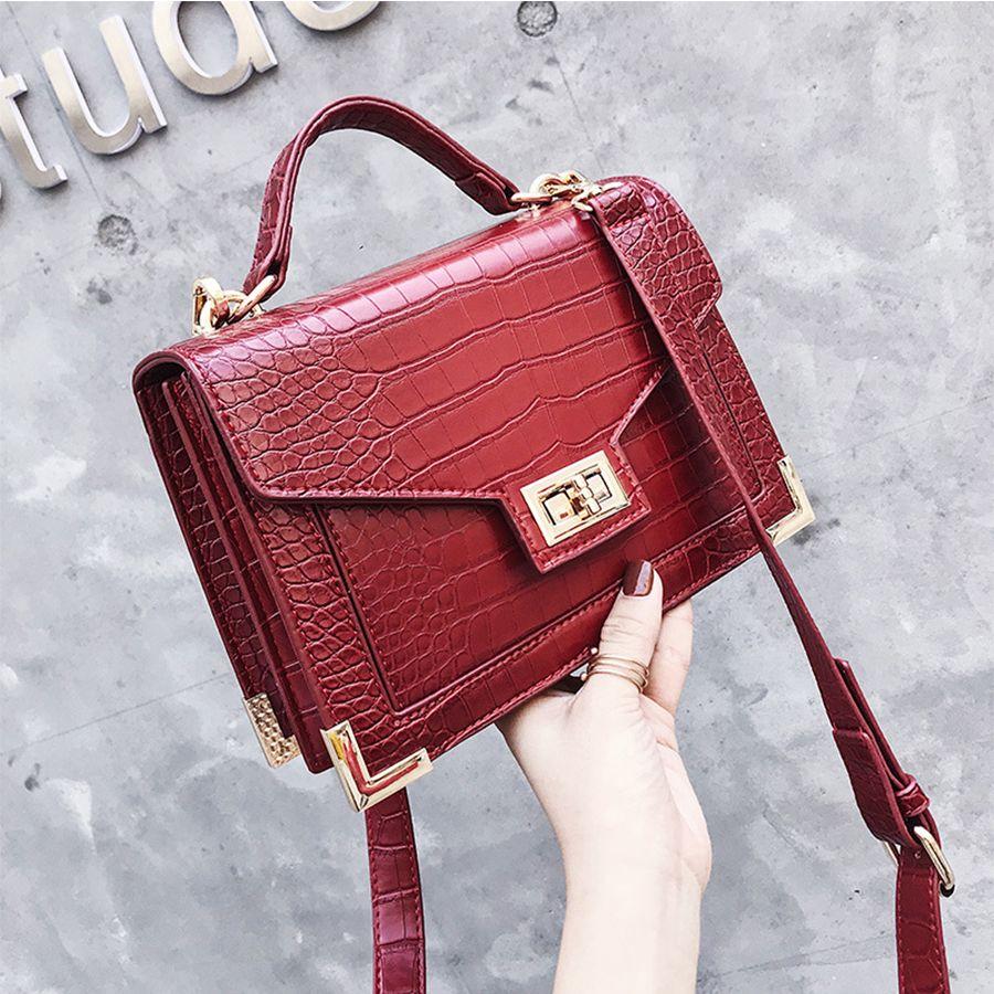 Bolsa Mujer Sacs Pour Femmes 2018 sacs à main de luxe sacs pour femmes Designer Crocodile Motif En Cuir D'épaule sac de messager sac à main