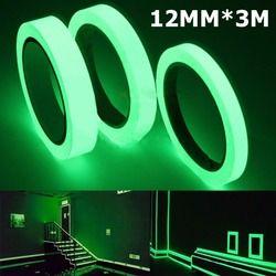 Cinta luminosa 12 Mm 3 m autoadhesivo cinta de visión nocturna resplandor en la seguridad oscura advertencia seguridad etapa Home decoración cintas