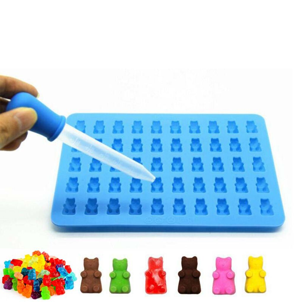 Bear Cavity Latiice Grid Silicone Plaster Ice Cube Jelly Chocolate Mold Candy Maker Mold Mould Tray DIY Craft