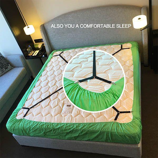 Оригинальный гринуэлл сделано регулируемая кровать Простыни сглаживателями, кровать Простыни Бретели для нижнего белья, кровать Простыни ...