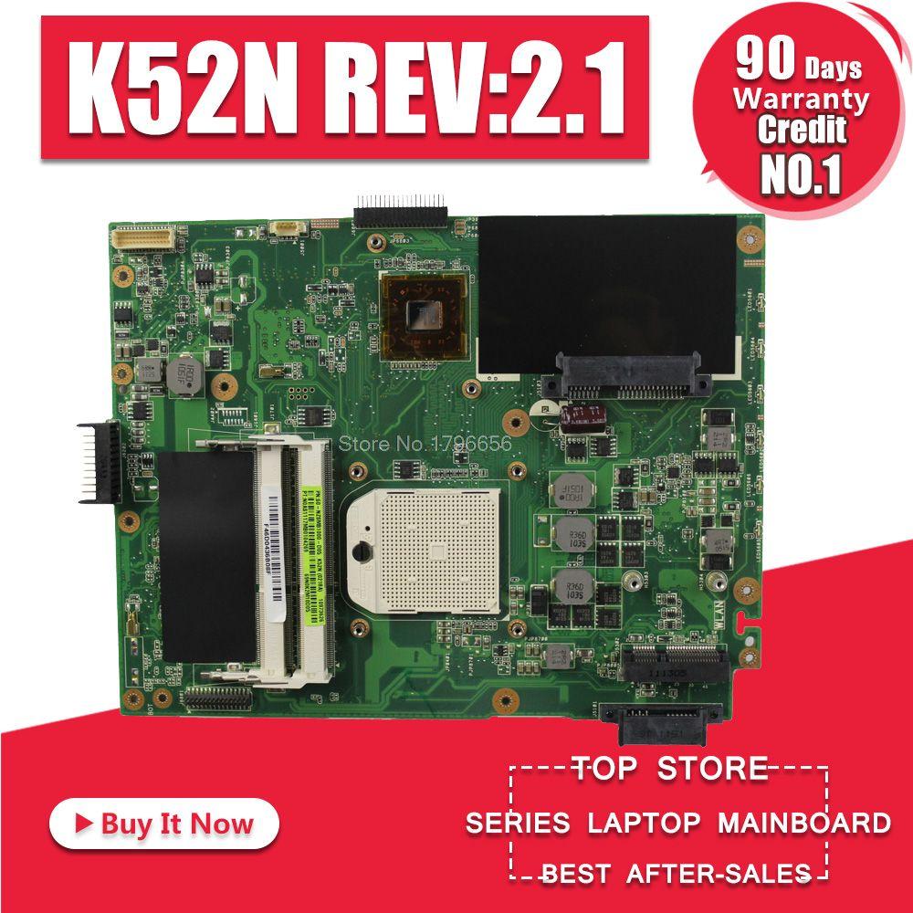 K52N carte mère REV: 2.1 pour ASUS X52N K52N K52D carte mère d'ordinateur portable K52N carte mère K52N carte mère test 100% ok