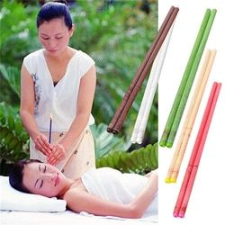 10X Natural Ear Candle Pure Bee Wax Thermo Auricular Therapy Straight Style Indiana Fragrance Candling Cylinder For Ear Care