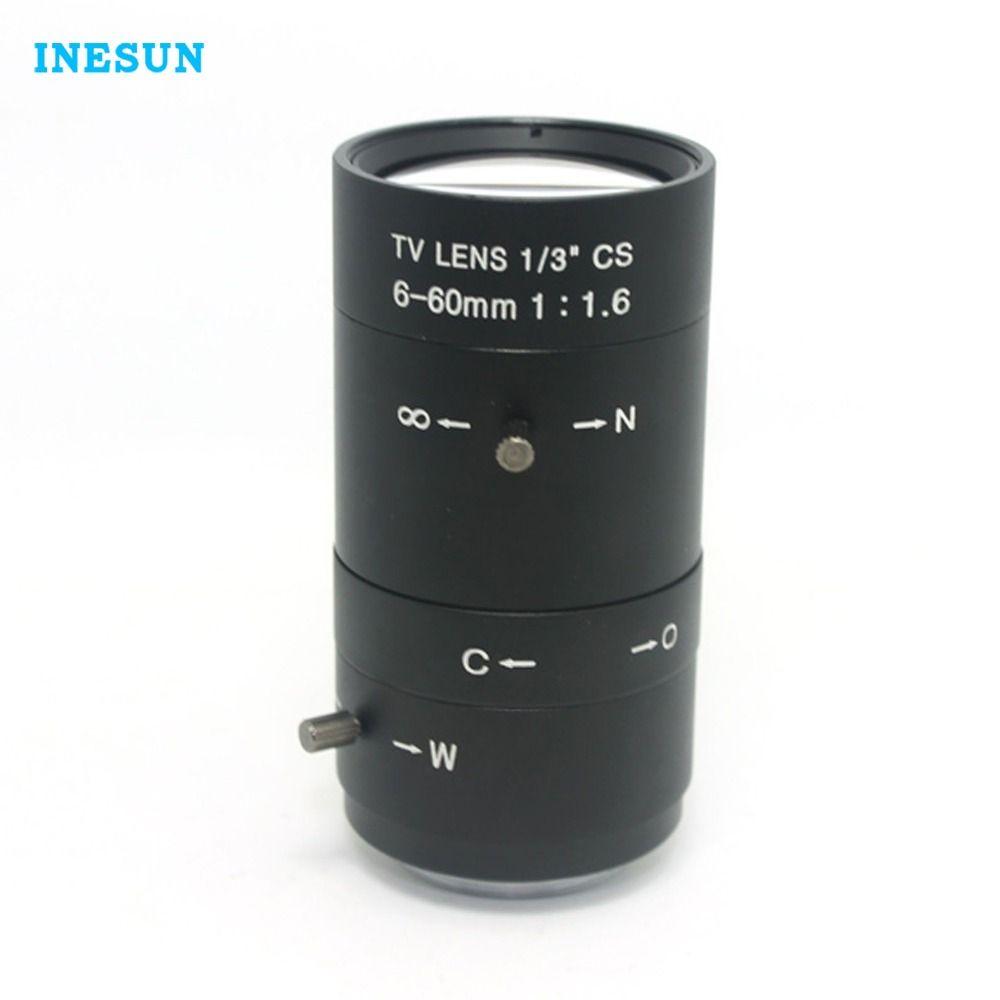 Inesun Manuelle IRIS ZOOM 6-60mm CS C-mount-objektiv Cctv-objektiv für Cctv-kamera