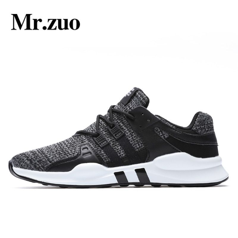 Mr.zuo Brand Men's Running Shoes Mesh Breathable Male Shoes Lace Up Sneakers Mens Gym Shoes adult male tennis Big Size 39-46