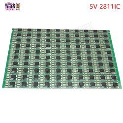 100 pcs/pack DC5V/DC12V ws2811 IC led Circuit Board PCB WS2811 LED RGB Pixel Modul IC 12mm dipimpin chip dipimpin modul Addressable