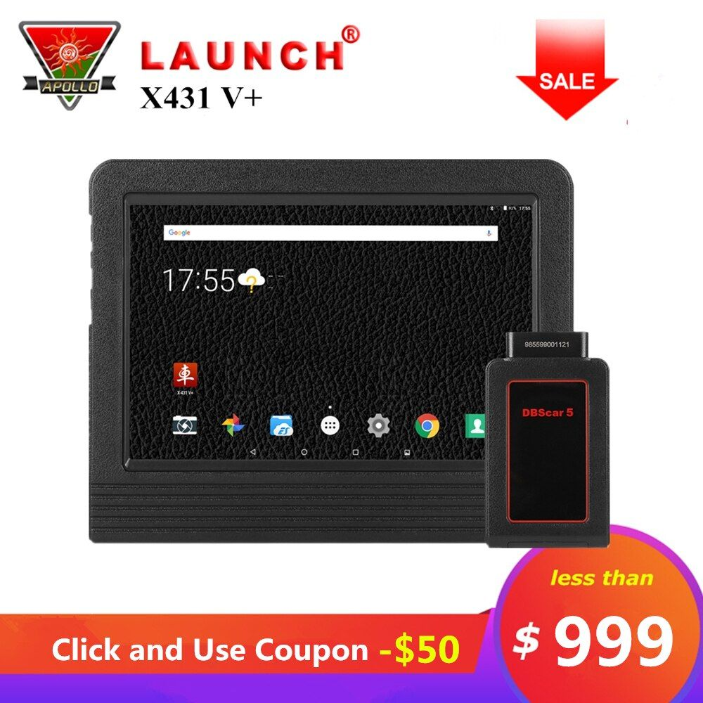Launch X431 V+ V Plus 10.1 inch Auto Diagnostic Tools Full System OBD2 Bluetooth Wifi Car Scanner 2 Year Free Update X431 Pro3