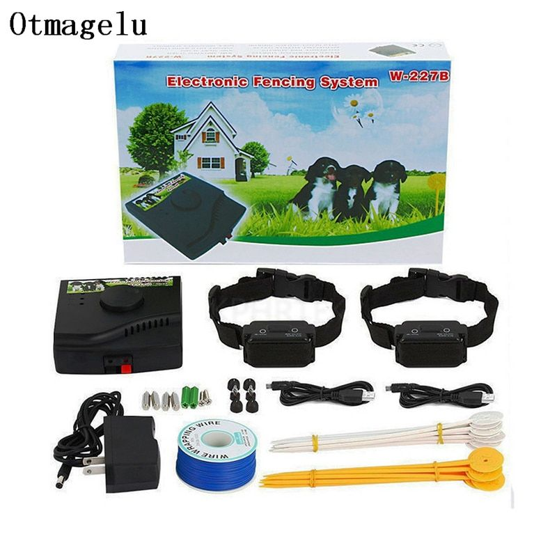 Pet Fence In-Ground Electric Dog Fence Rechargeable Electric Dog Training Collar Receivers Pet Containment System W-227B For Dog