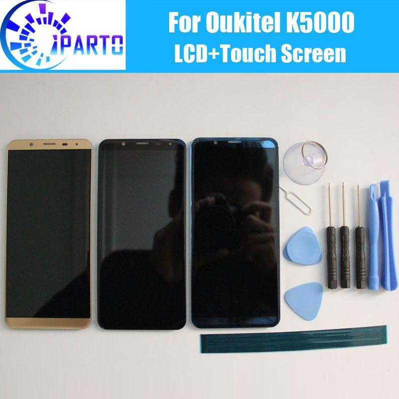 Oukitel K5000 écran LCD + Écran Tactile 100% D'origine LCD Numériseur Remplacement de Panneau de Verre Pour Oukitel K5000 + outil + adhésif.