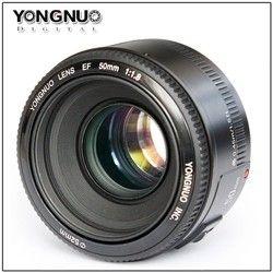 Yongnuo lente YN50mm f1.8 yn EF 50mm f/1.8 lente AF YN50 Apertura de enfoque automático para Canon EOS 60D 70D 5D2 5D3 600d Canon Cámaras DSLR