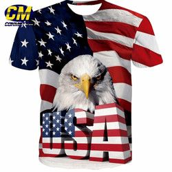 Fashion Pria 3D T-shirt Eagle Printing Ukuran Eur