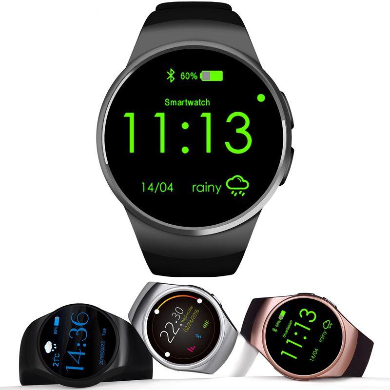 Смарт-часы kw18 полный IPS Экран Bluetooth Беспроводные устройства сердечного ритма Мониторы Фитнес трекер для iOS смартфонов на базе Android