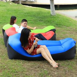 inflatable lazy Lounger sleeping bag inflatable air Sofa with Carry Bag Beanbag air bed lounge chair for Summer Beach Fishing