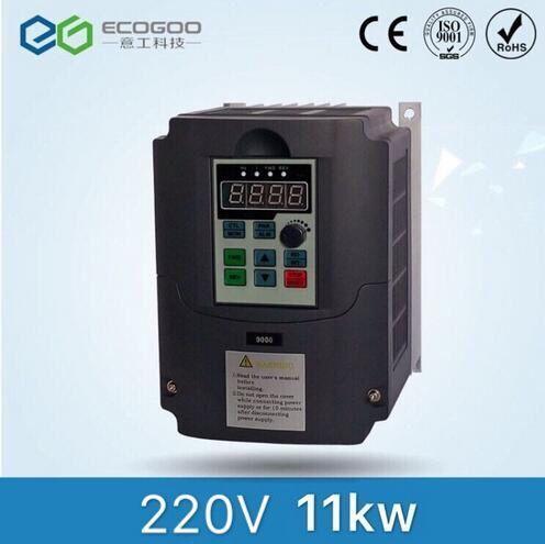 11KW 15HP 400 HZ VFD Wechselrichter frequenzumrichter einphasig 220 v eingangs 3 phase 380 v ausgang 24A für 10HP motor